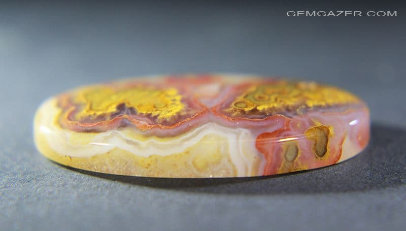 Cathedral agate cabochon